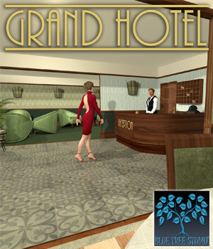 Grand Hotel Part 1 3D Models BlueTreeStudio