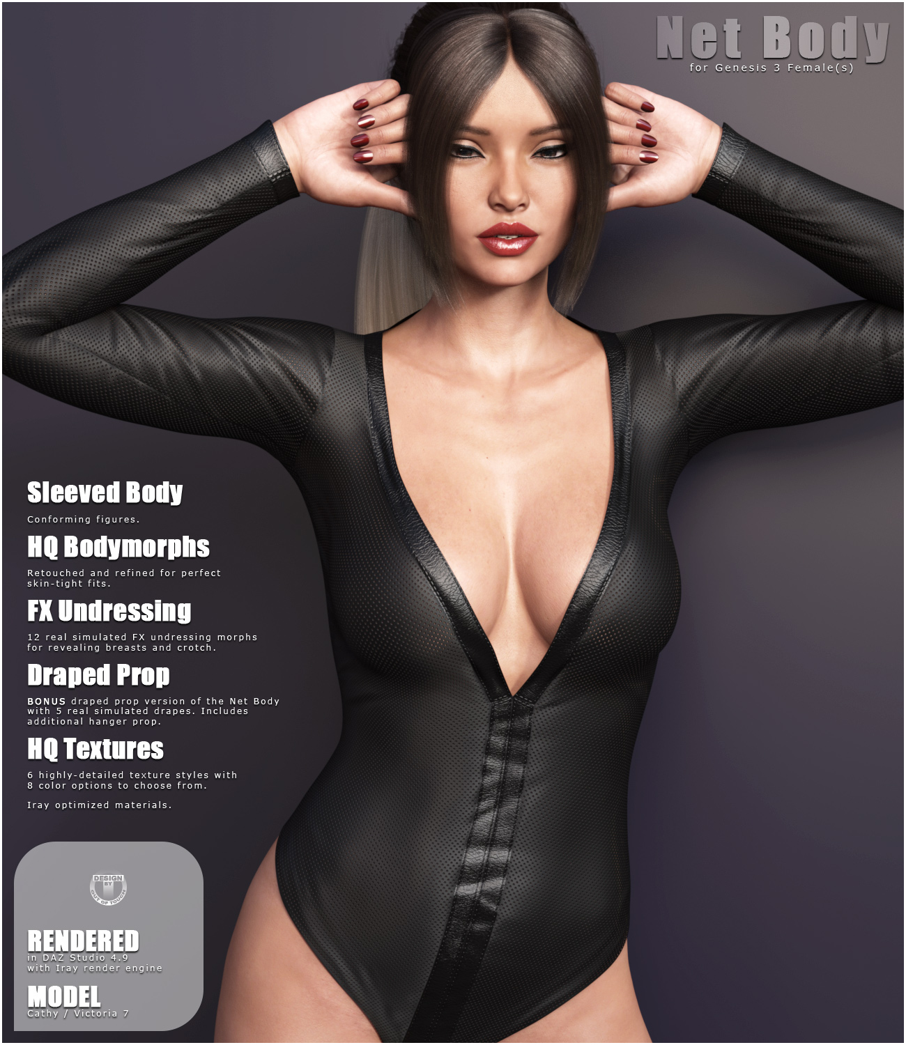 Net Body for Genesis 3 Females