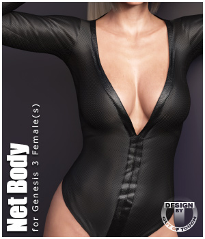 Net Body for Genesis 3 Females 3D Figure Assets outoftouch