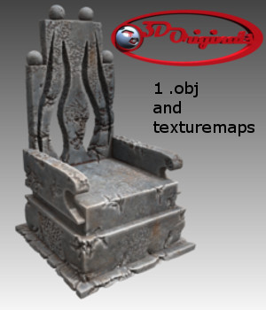The Kings Throne - Extended License 3D Models Extended Licenses 3D Game Models : OBJ : FBX Designer01
