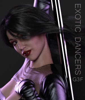 Exotic Dancers 3D Figure Assets AliveSheCried
