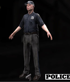 Policeman - Extended License 3D Models Extended Licenses Game Content - Games and Apps KRBY