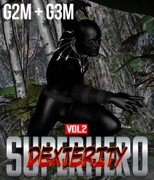 SuperHero Dexterity for G2M & G3M Volume 2 3D Figure Essentials GriffinFX