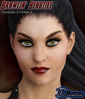 SWD Brawlin' Beauties: Diana 3D Figure Essentials Silverwind