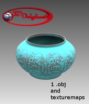 Pot Ancient blue - Extended License 3D Models Extended Licenses Game Content - Games and Apps Designer01