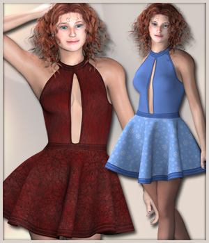 Pauline Party Dress 3D Figure Assets karanta