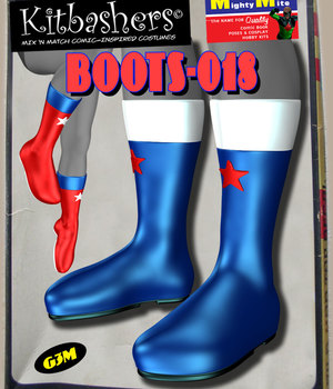 Kitbashers_Boots-018 -- By MightyMite for G3M 3D Figure Assets MightyMite