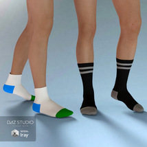Sport Socks Pack for Genesis 3 Males image 2