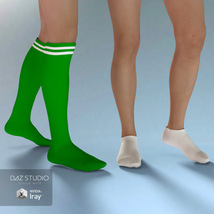 Sport Socks Pack for Genesis 3 Males image 3