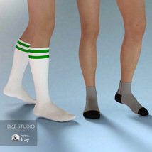 Sport Socks Pack for Genesis 3 Males image 4