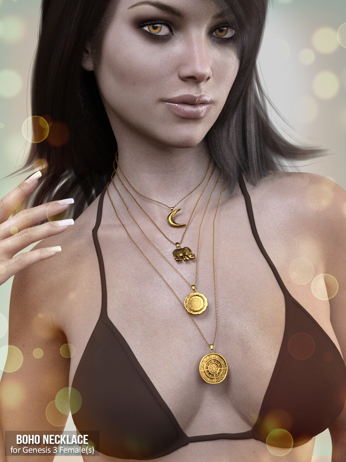 X-Fashion Boho Necklace for Genesis 3 Female(s)