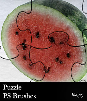 Puzzle PS Brushes 2D Graphics biala