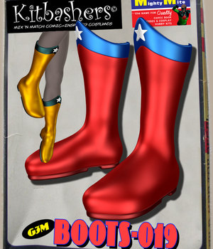 Kitbashers_Boots-019 -- By MightyMite for G3M 3D Figure Assets MightyMite