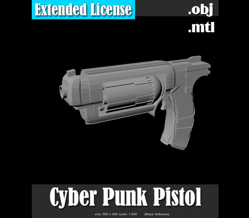 Cyber Punk Pistol - Extended License by Darkworld