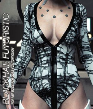 BLACKHAT:FUTURISTIC - Net Body for Genesis 3 Female(s) 3D Figure Essentials Anagord