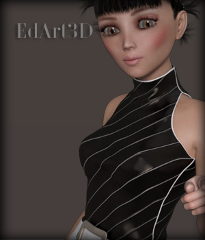 Sixties Fashion Style1 Abstract AddOn 3D Figure Assets EdArt3D