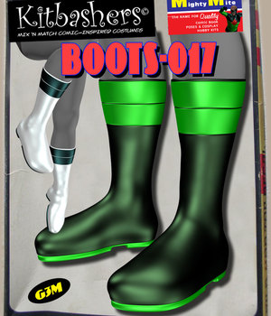 Kitbashers_Boots-017 -- By MightyMite for G3M 3D Figure Assets MightyMite