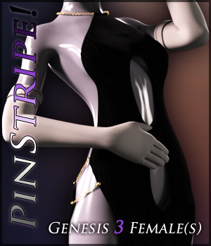 Pinstripe! for Genese 3 Females 3D Figure Assets Quanto