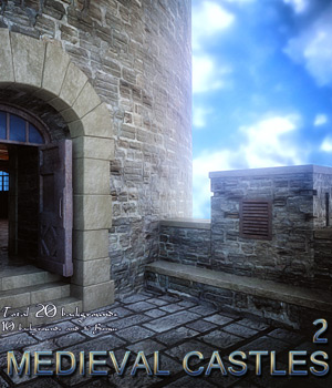 Medieval Castles 2 - 2D backgrounds 2D Graphics bonbonka