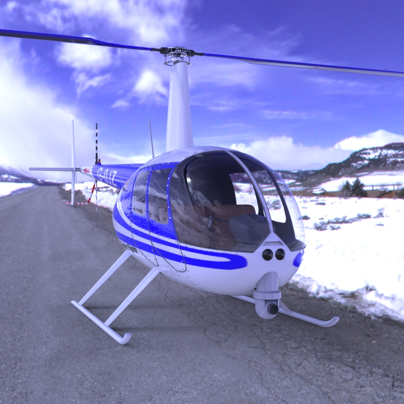 News Helicopter fbx format - Extended License