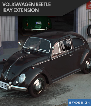 Iray Extension for Volkswagen Beetle by Vanishing Point (for DAZ Studio) 3D Figure Essentials SF-Design