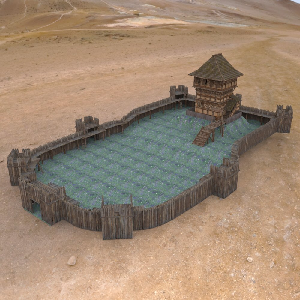 Castle Keep And Tower obj format - Extended License