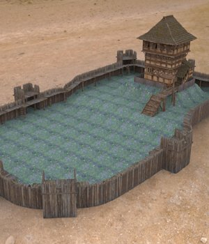 Castle Keep And Tower obj format - Extended License 3D Game Models : OBJ : FBX 3D Models Extended Licenses VanishingPoint