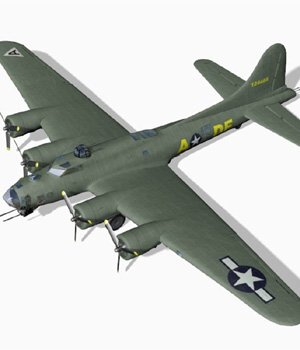 B 17G Flying Fortress fbx format - Extended License 3D Models Extended Licenses 3D Game Models : OBJ : FBX Digimation_ModelBank