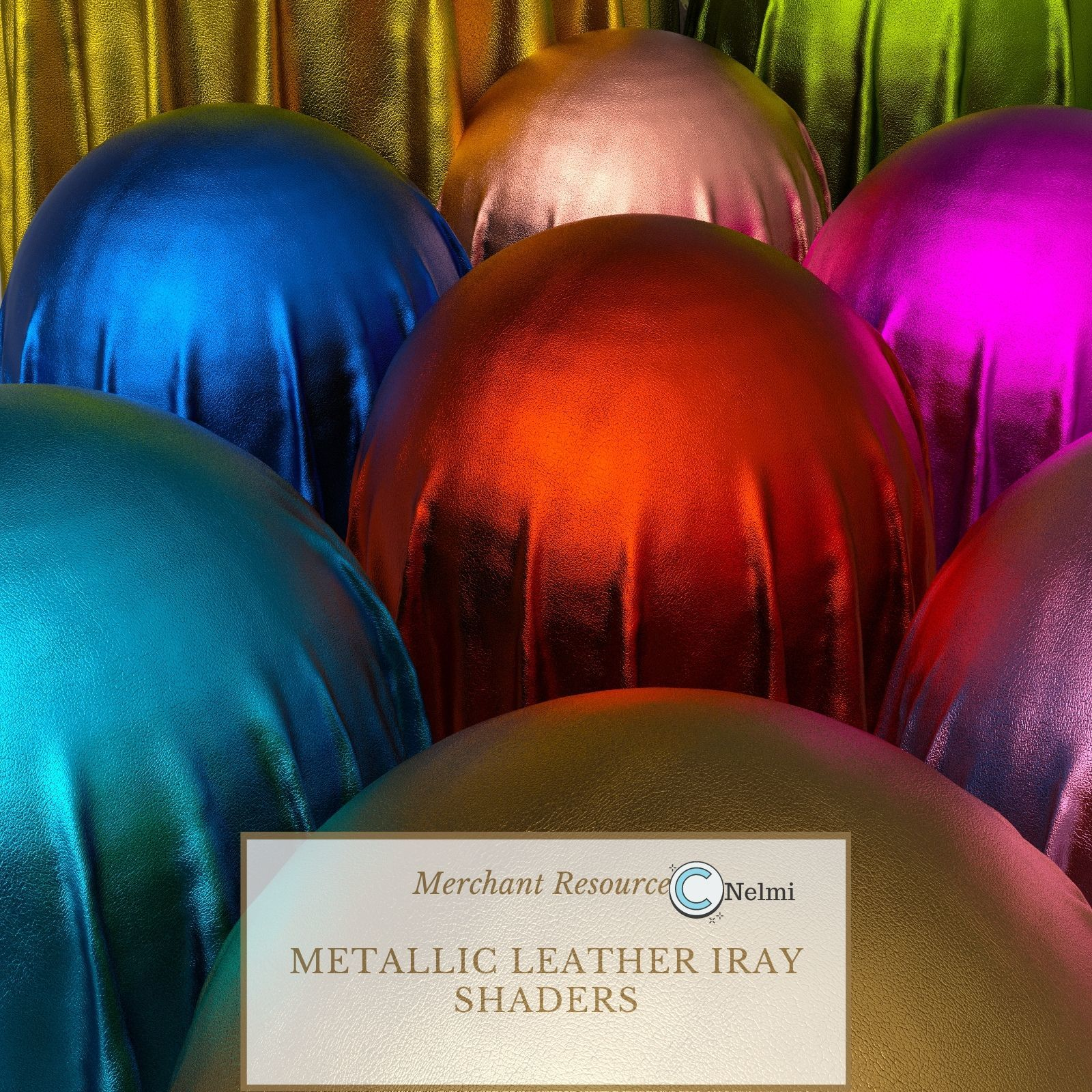 Metallic Leather Iray Shaders