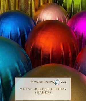 Metallic Leather Iray Shaders 3D Figure Assets nelmi