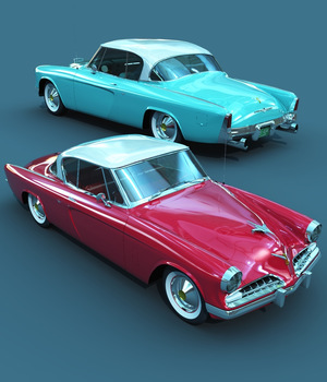 STUDEBAKER STARLINER 1953 - EXTENDED LICENSE 3D Models Extended Licenses 3D Game Models : OBJ : FBX Nationale7