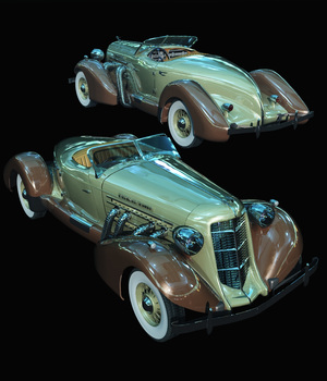 AUBURN SPEEDSTER - EXTENDED LICENSE 3D Models Extended Licenses 3D Game Models : OBJ : FBX Nationale7