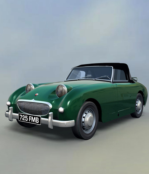 AUSTIN HEALEY FROGEYE - EXTENDED LICENSE 3D Models Extended Licenses 3D Game Models : OBJ : FBX Nationale7
