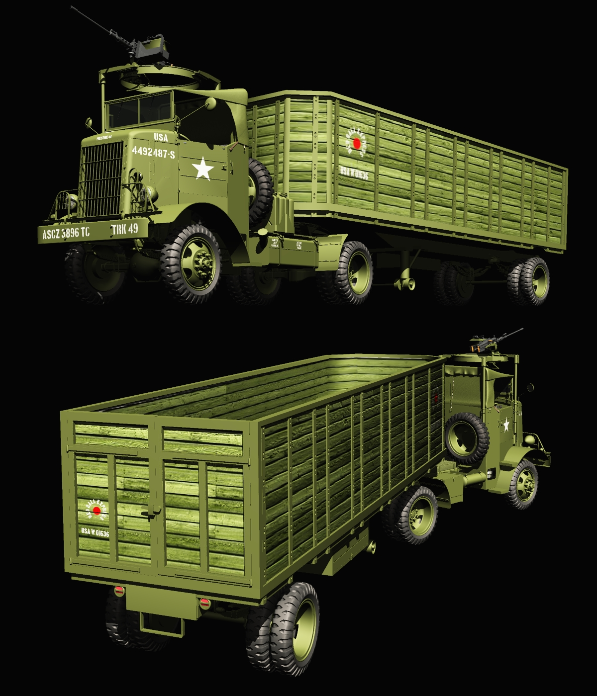 AUTOCAR U7144T - Extended License by 3DClassics