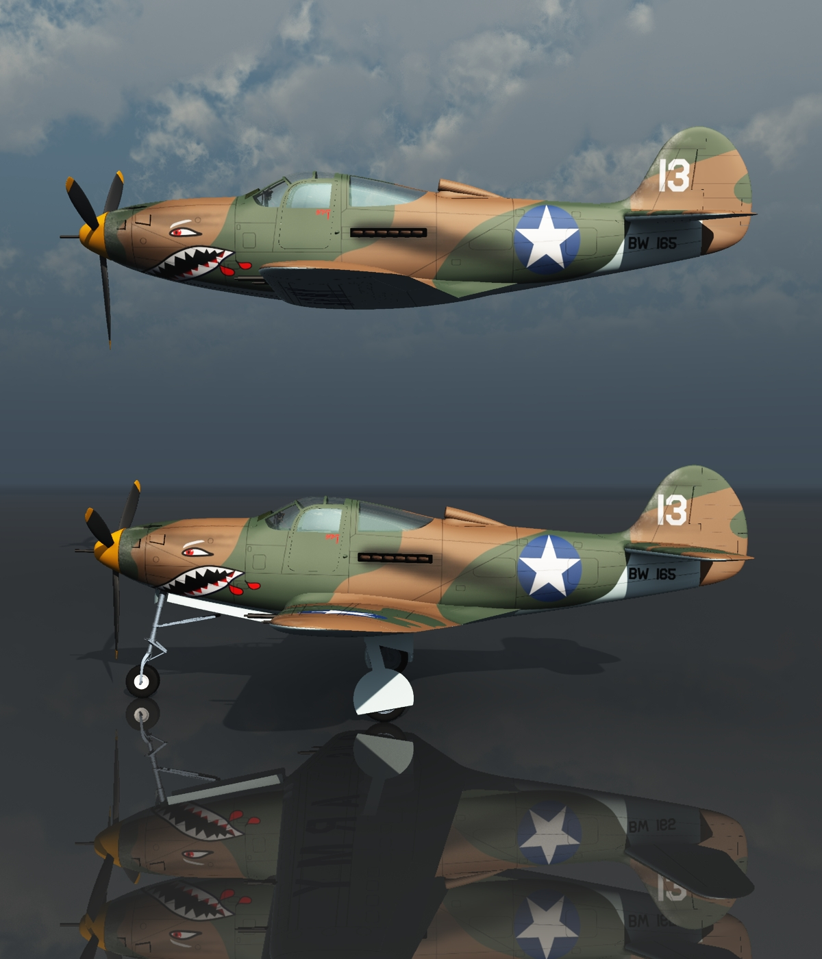 BELL P39 AIRACOBRA USA - Extended License by 3DClassics