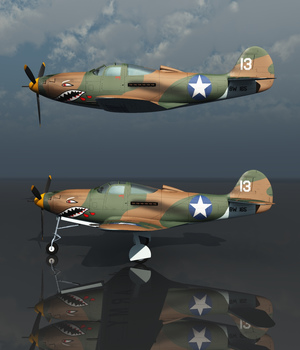 BELL P39 AIRACOBRA USA - Extended License 3D Models Extended Licenses 3D Game Models : OBJ : FBX Nationale7