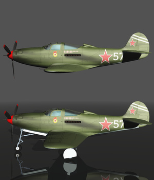 BELL P39 AIRACOBRA URSS - Extended License  3D Models Extended Licenses 3D Game Models : OBJ : FBX Nationale7