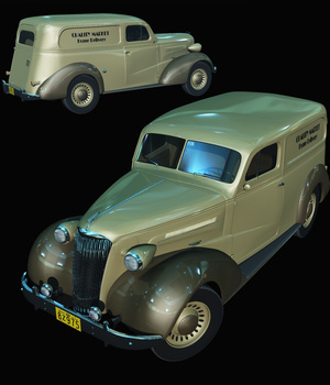 CHEVROLET 1937 DELIVERY - Extended License 3D Models Extended Licenses 3D Game Models : OBJ : FBX Nationale7