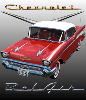 CHEVROLET 1957 HARD TOP - Extended License  3D Models Extended Licenses 3D Game Models : OBJ : FBX 3DClassics