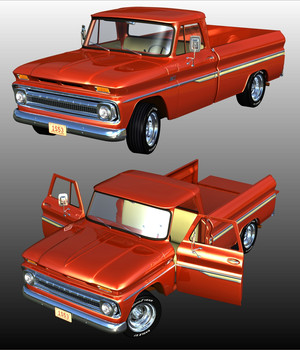 CHEVROLET C10 1965 - Extended License 3D Models Extended Licenses 3D Game Models : OBJ : FBX Nationale7