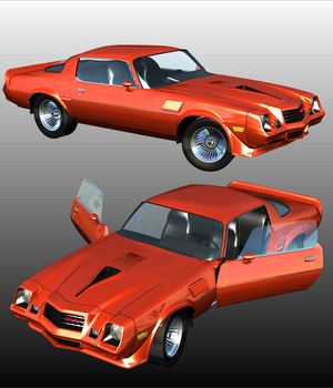CHEVROLET CAMARO Z28 - Extended License 3D Models Extended Licenses 3D Game Models : OBJ : FBX Nationale7