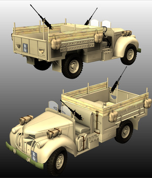 LRDG CHEVROLET - Extended License 3D Models Extended Licenses 3D Game Models : OBJ : FBX Nationale7