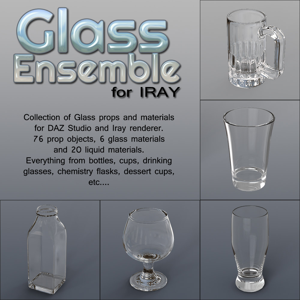 Exnem Glass Ensemble for IRAY
