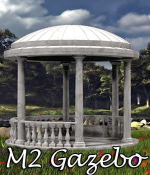 M2 Gazebo OBJ, 3DS & LWO - Extended License
