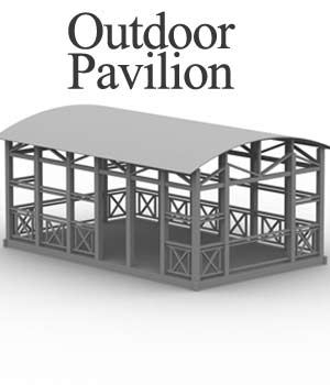 M4 Outdoor Pavilion obj, 3ds & lwo   - Extended License 3D Models Extended Licenses 3D Game Models : OBJ : FBX RPublishing