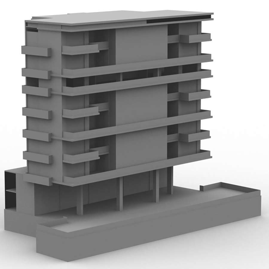 M6 High Rise Condo OBJ, LWO & 3DS - Extended License