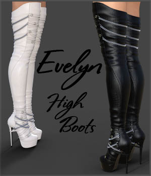 Evelyn High Boots for Genesis 3 Females 3D Figure Essentials Arryn