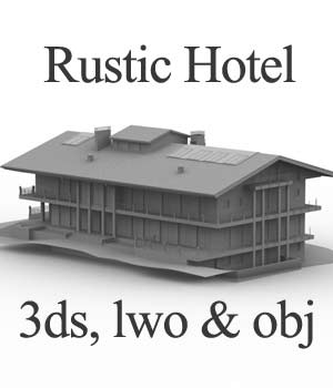 M13 Rustic Hotel OBJ, LWO & 3DS  - Extended License 3D Models Extended Licenses Game Content - Games and Apps RPublishing