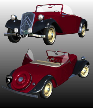 CITROEN 11 CABRIOLET 1938 - Extended Licensse 3D Models Extended Licenses Nationale7