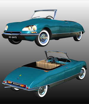 CITROEN DS21 CABRIOLET - Extended License 3D Models Extended Licenses Nationale7